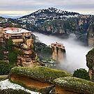 Varlaam & Roussanou monasteries - Meteora by Hercules Milas