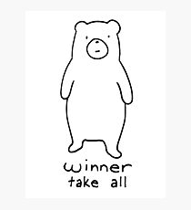 Winner take all - cuddly bear Photographic Print