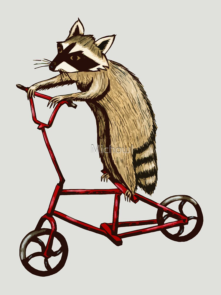 Bicycle Riding Raccoon  by Michowl