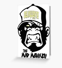 Gangster - Thug - Monkey Cartoon - Delinquent Nato Greeting Card