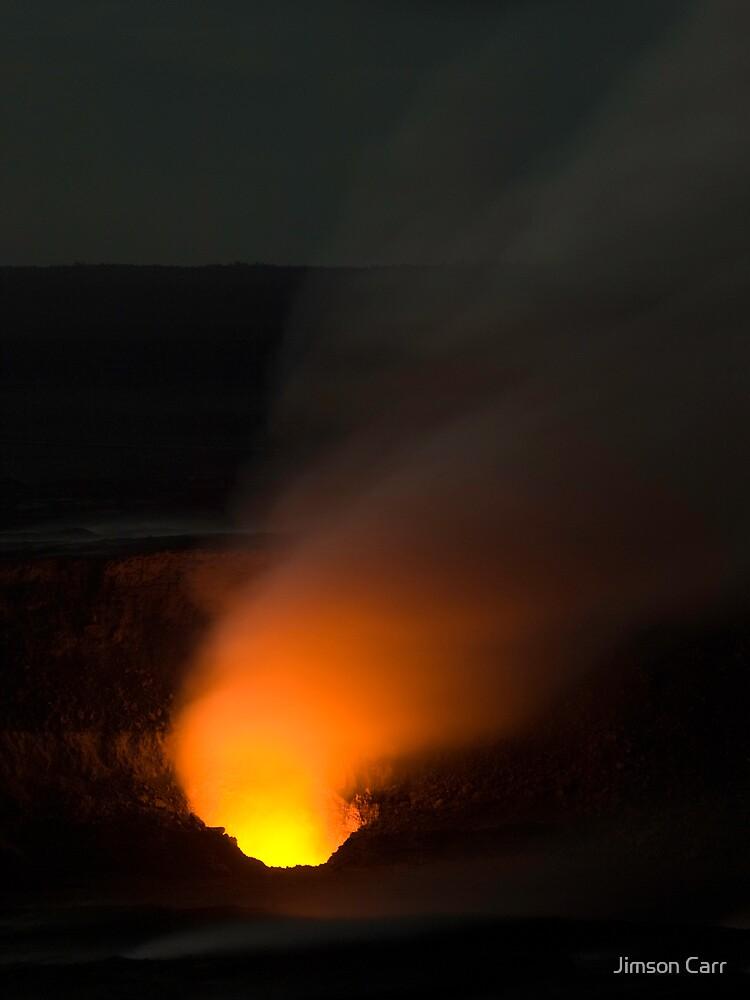 Halemaumau at Night by Jimson Carr