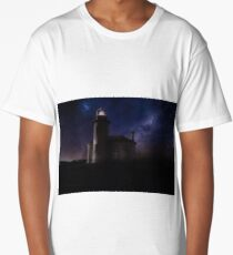 Lighthouse at Night Long T-Shirt