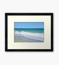 Sandy beach and Mediterranean sea Framed Print