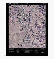 USGS TOPO Map Georgia GA Crawley 20110310 TM Inverted Photographic Print