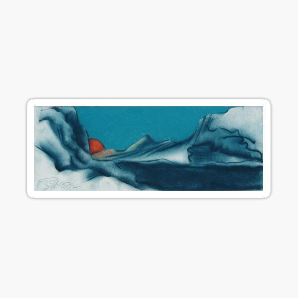 Red Sun on a Distant Planet Sticker
