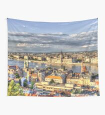 Budapest City View Wall Tapestry