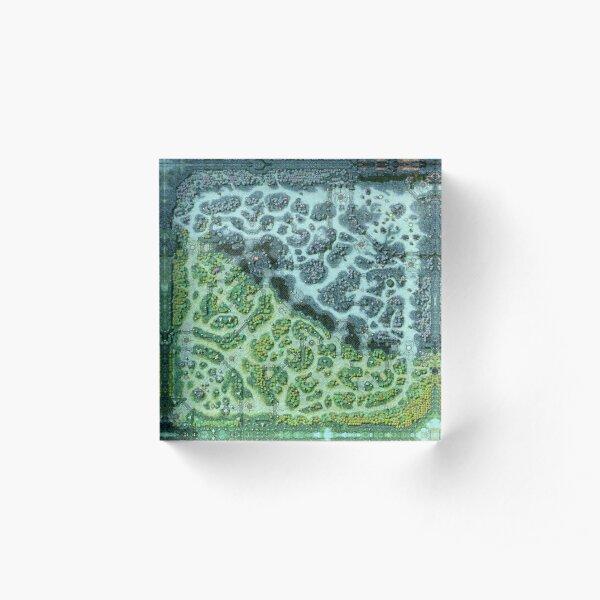 Dota 2 Reborn 7.00 Reef HD Map Acrylic Block