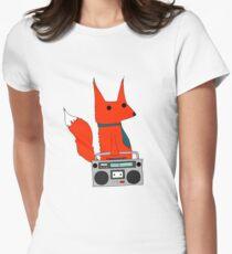 music fox Womens Fitted T-Shirt