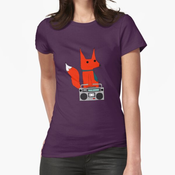 music fox Fitted T-Shirt