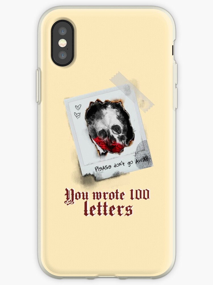 """hopeless fountain kingdom 100 letters lyrics"""" iphone cases & covers"""