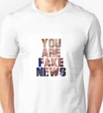 'You Are Fake News' Trump Design T-Shirt
