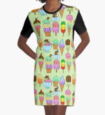 Summer Ice Cream  Graphic T-Shirt Dress