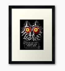 Majoras Mask - Meeting With a Terrible Fate Framed Print