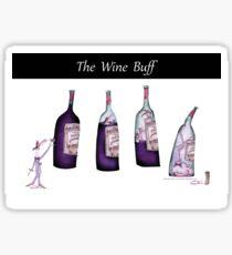 The Wine Buff by Tony Fernandes Sticker