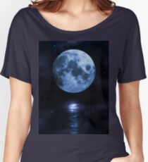 Blue moon Women's Relaxed Fit T-Shirt