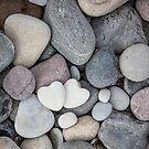 Heart Pebble Stone Mineral Love Symbol by artsandsoul