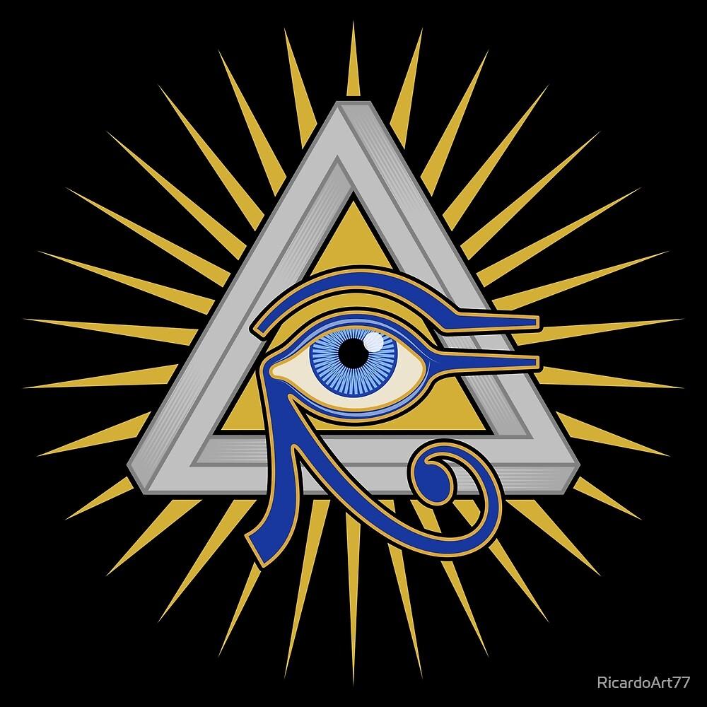 Eye and Triangle by RicardoArt77
