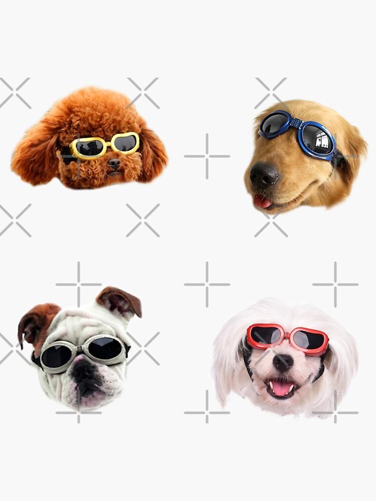 Doggo Stickers: Sunglasses #1 by Elisecv