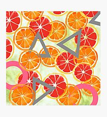 Citrus play + watercolor Photographic Print