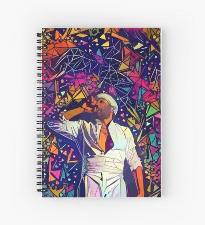 Abstract Gambino Spiral Notebook