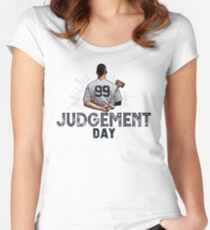 Judgement Day Shirt , Judge 99  is coming Shirt New york Baseball - i'm a Big Fan !  Women's Fitted Scoop T-Shirt