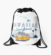 Hawaiian Surfari Drawstring Bag