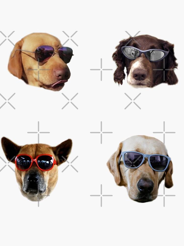 Doggo Stickers: Sunglasses #2 by Elisecv