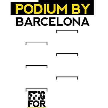 FF1S: Podium By Barcelona by podmerch