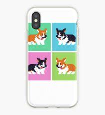 Pixel Corgi Blocks iPhone Case