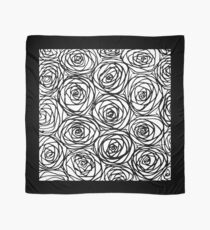 Line Art Roses Scarf