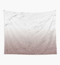 Cerise blush - marble glitter gradient Wall Tapestry