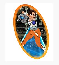Portal - Chell & Wheatley Photographic Print
