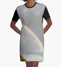 DOUBLE RAINBOW, PHOTOGRAPHY LANDSCAPE Graphic T-Shirt Dress