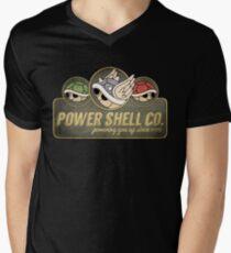 Power Shell Co. Mens V-Neck T-Shirt
