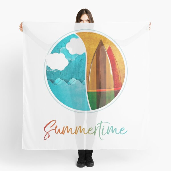 Summertime, Sea, Surf and Fun Scarf