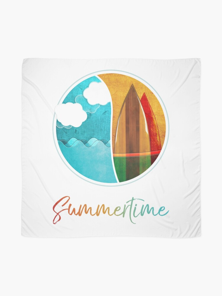Alternate view of Summertime, Sea, Surf and Fun Scarf