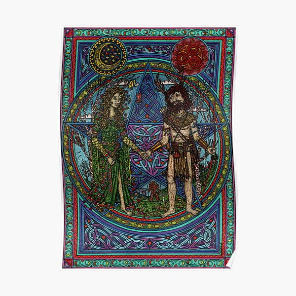 Beltane (the Goddess and the God) Poster