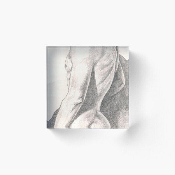 Anonymous Nude Man Acrylic Block