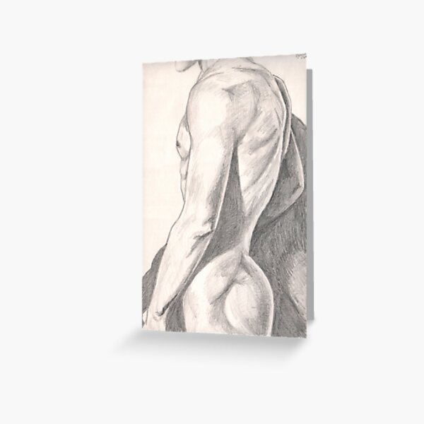 Anonymous Nude Man Greeting Card