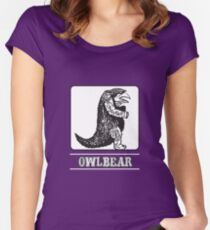 Owlbear : Inspired by Dungeons & Dragons  Women's Fitted Scoop T-Shirt