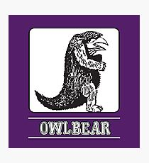 Owlbear : Inspired by Dungeons & Dragons  Photographic Print