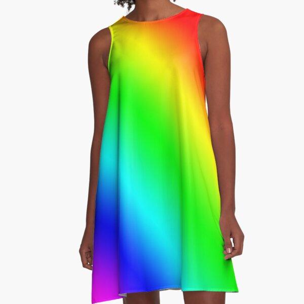 Rainbow  A-Line Dress