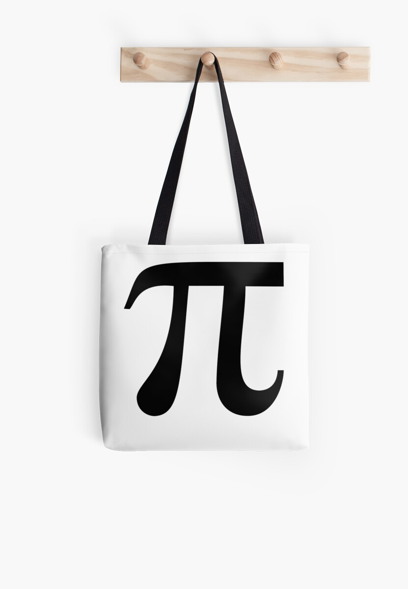 Pi Greek Letter 314 Circle Fraternity Sorority Math Tote Bags By