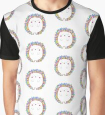 Colorful hedgehog Graphic T-Shirt