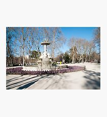 Fountain, Retiro Park, Madrid, Spain Photographic Print