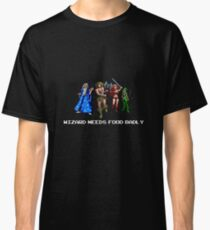 Wizard Needs Food : Inspired by Gauntlet Classic T-Shirt