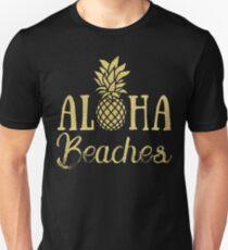 Aloha Beaches Pineapple Hawaii T-Shirt T-Shirt