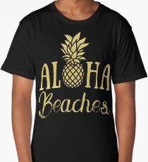 Aloha Beaches Pineapple Hawaii T-Shirt Long T-Shirt