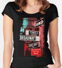 Broadway-Straße - New York City Tailliertes Rundhals-Shirt