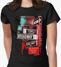 Camiseta entallada para mujer Broadway Street - Nueva York